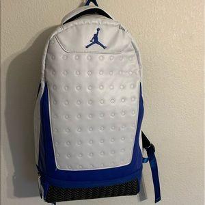 jordan backpack blue/white
